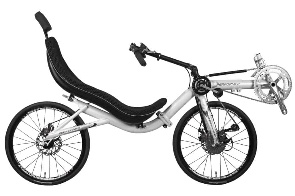 Recumbent Bike Folding Front Wheel Drive full view
