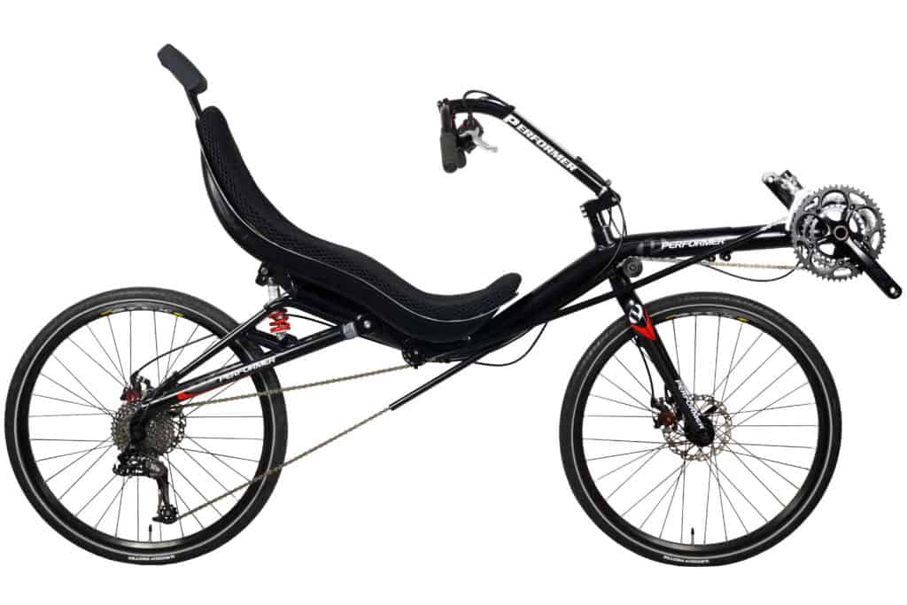 Recumbent Bike Rear Suspension full view
