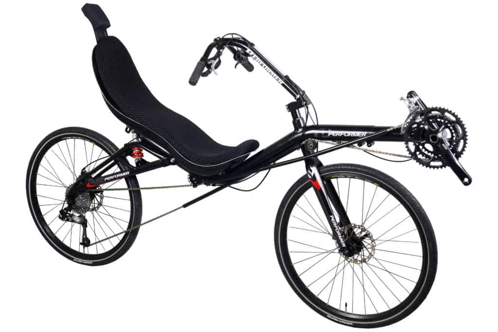 Recumbent Bike Rear Suspension Oss side view