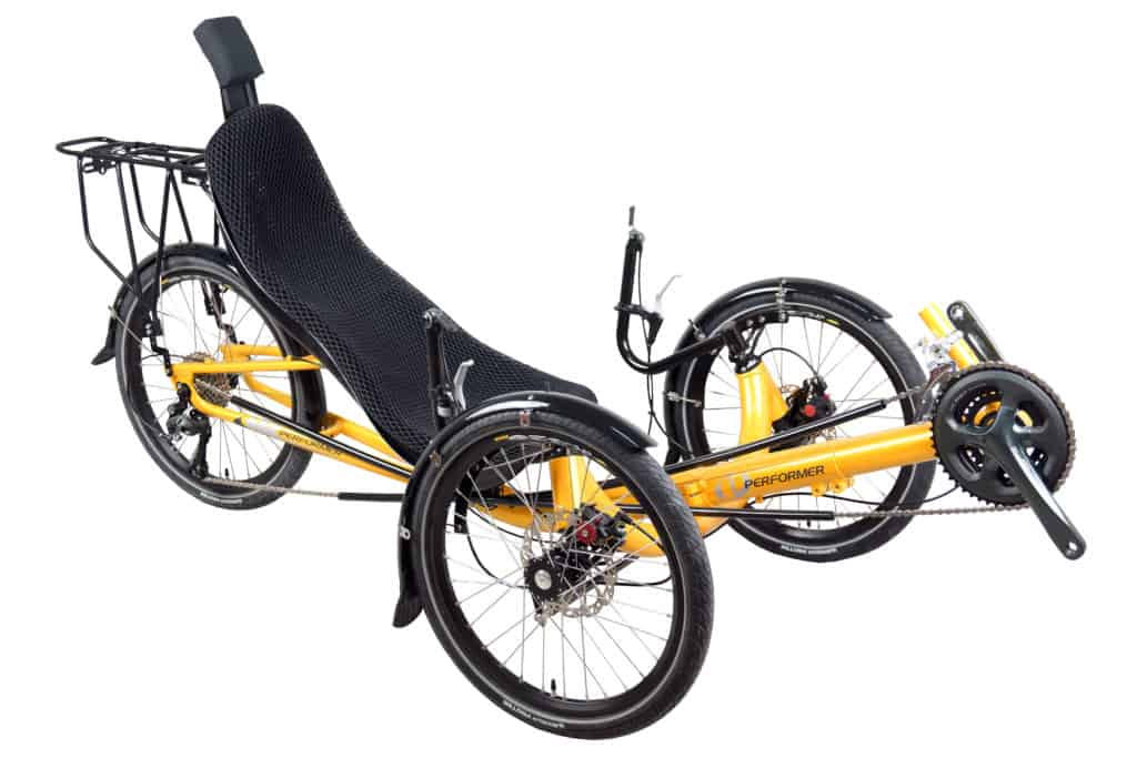 Popular Recumbent Trike with Rack and Headrest