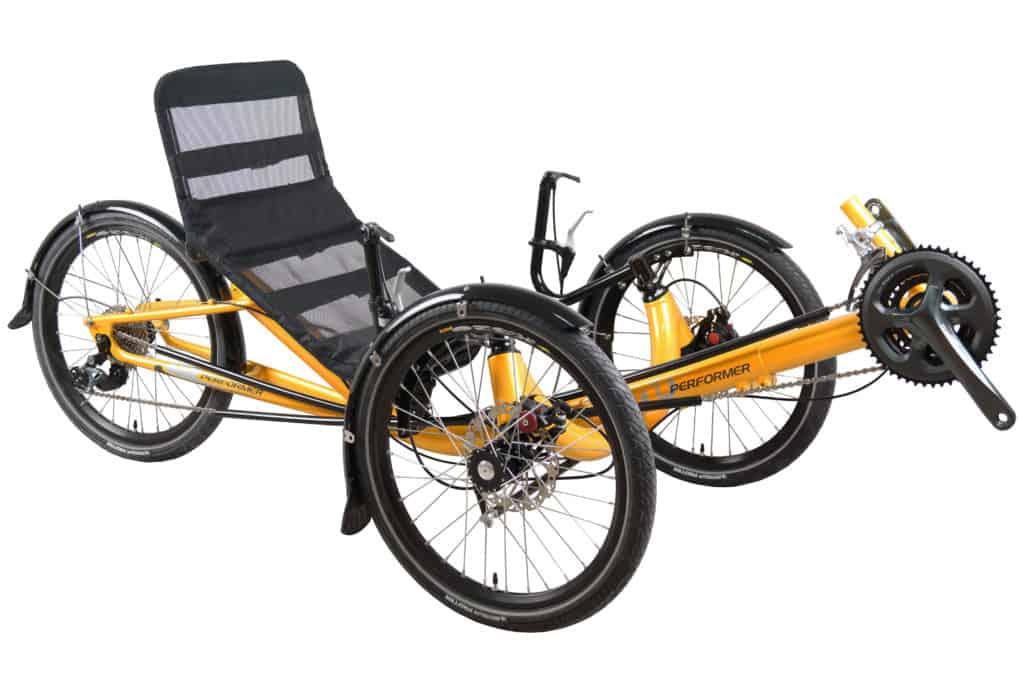 Recumbent Trike Mesh Seat Front View