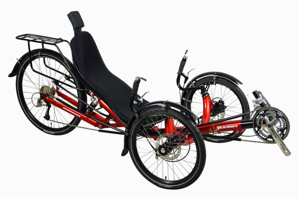 Recumbent Trike Rear Suspension Rear Rack and Headres