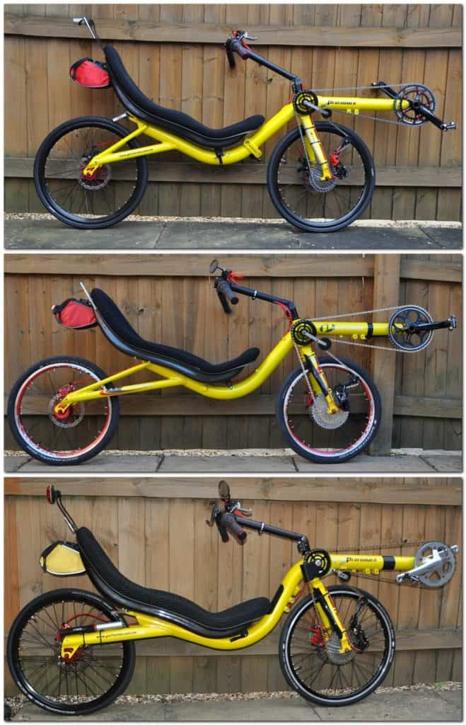 Recumbent High Racer Yellow