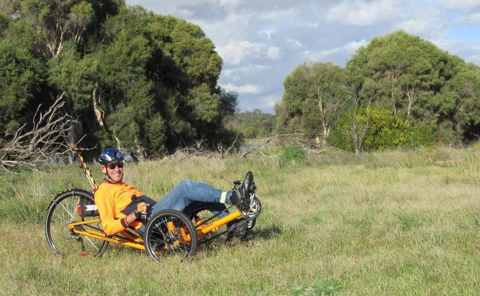 Recumbent Trike Off Trail