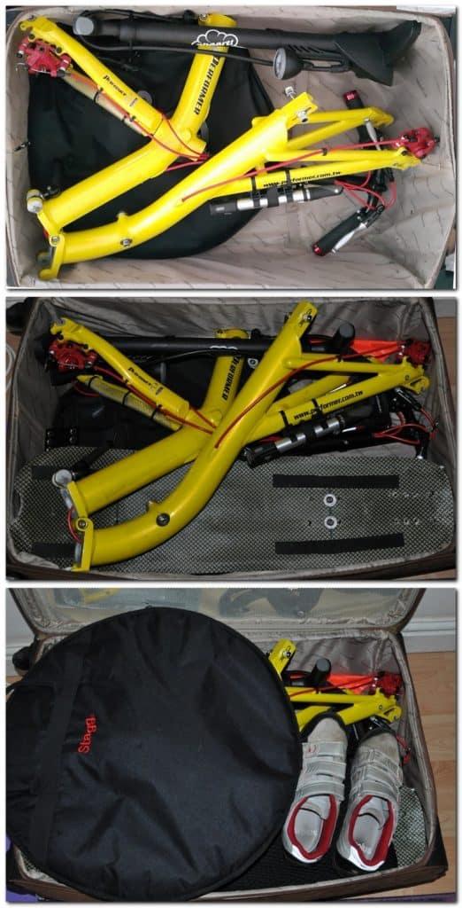 pack recumbent bike in suitcase