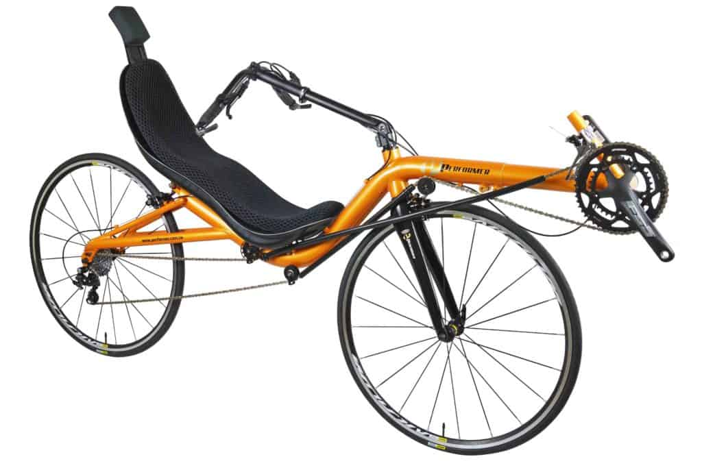 High Racer Recumbent 700c front side view