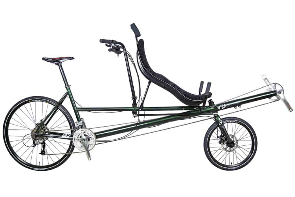 tandem recumbent bike with OSS and USS