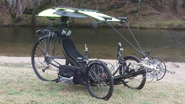 recumbent trike with canopy