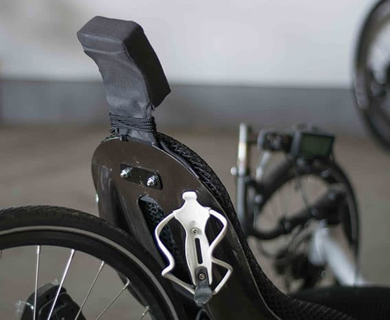 bottle cage attached to back of seat