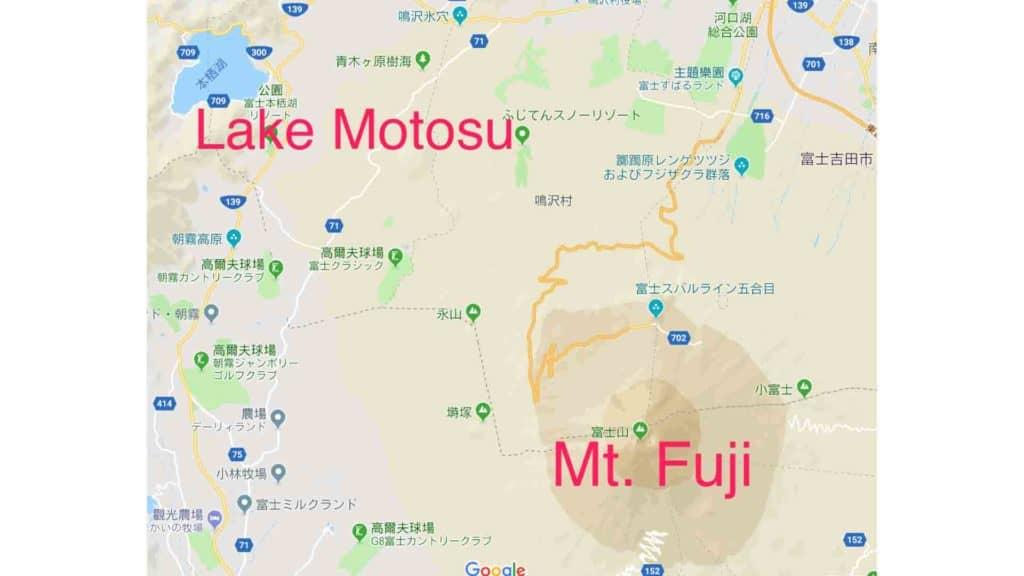 mt fuji lake motosu region