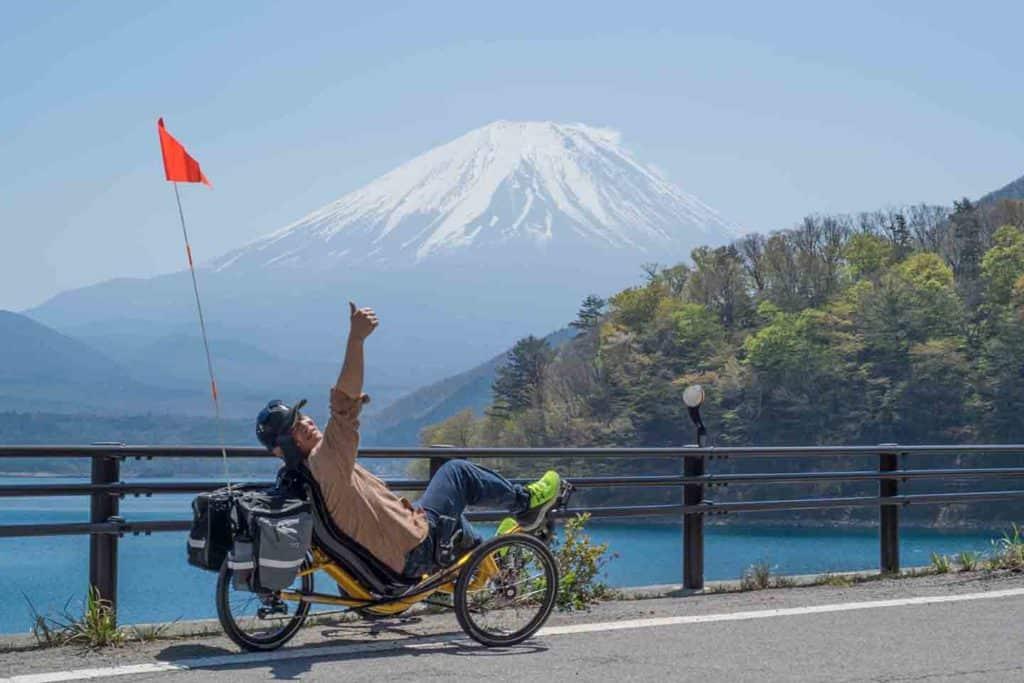 george performer cycles likes mt fuji